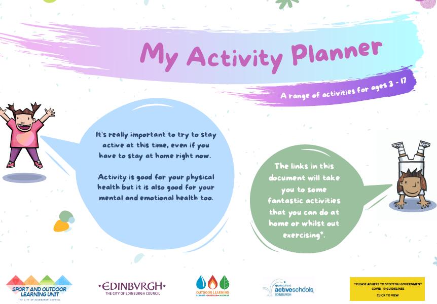 my activity planner